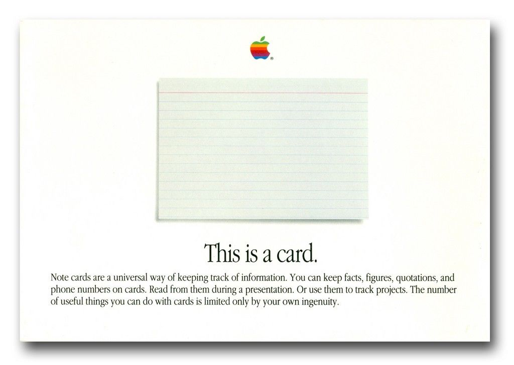 An example of a beautifully poignant piece of marketing for HyperCard. © All Rights Reserved, Flickr user: Jeff Jackson