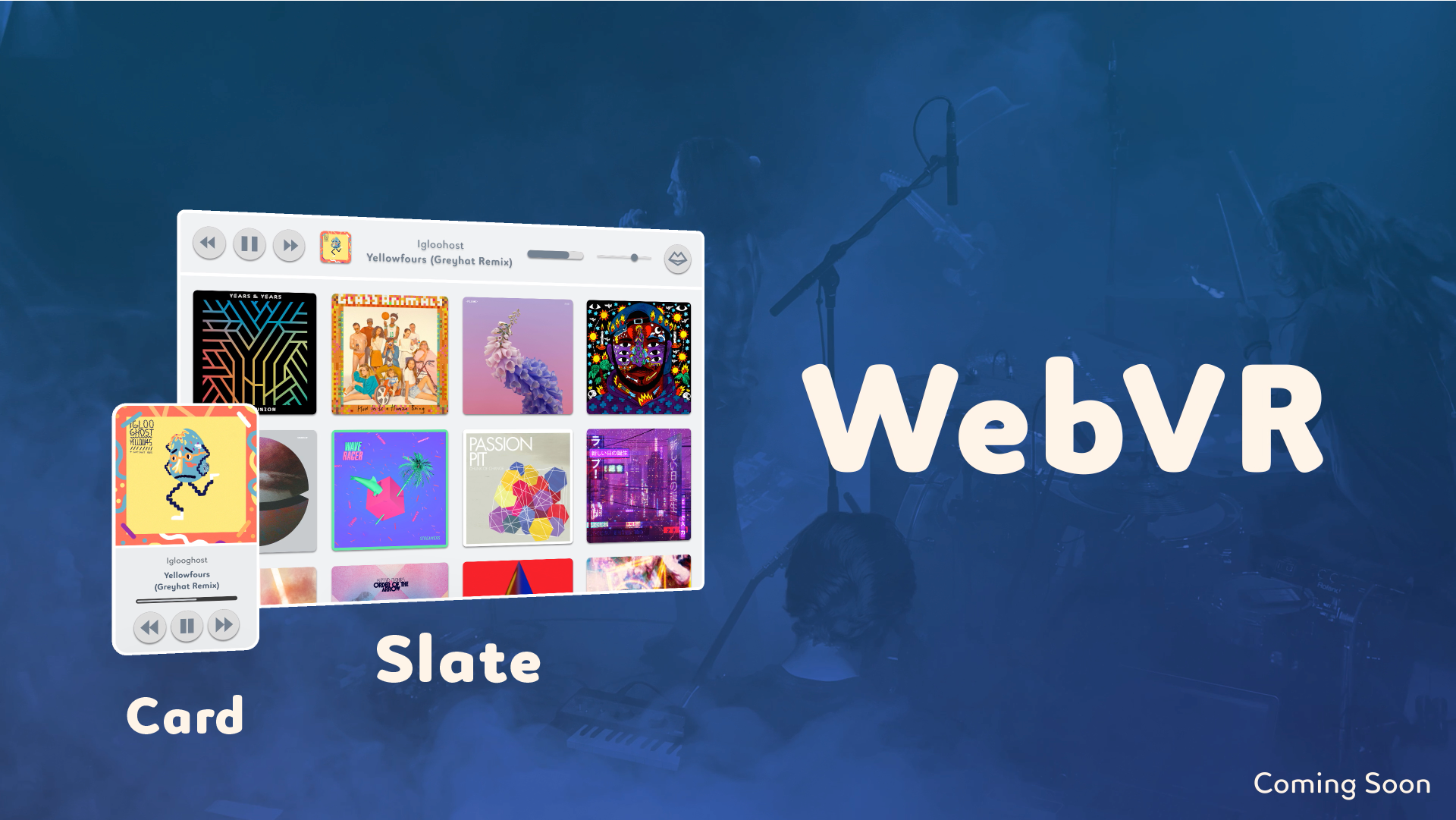Web content comes in 3 forms in Holos: Right now we have Cards, but we're soon adding the ability for you to add a Slate and a World (through WebVR) to your card.